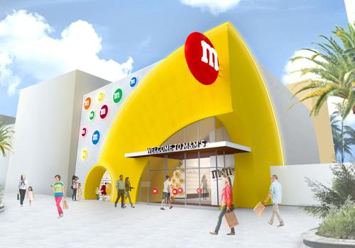 Outdoor façade of m&M store