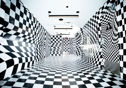 Vans checkboard room