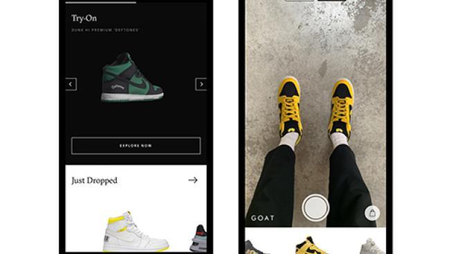 Online sneaker platform tries on AR for