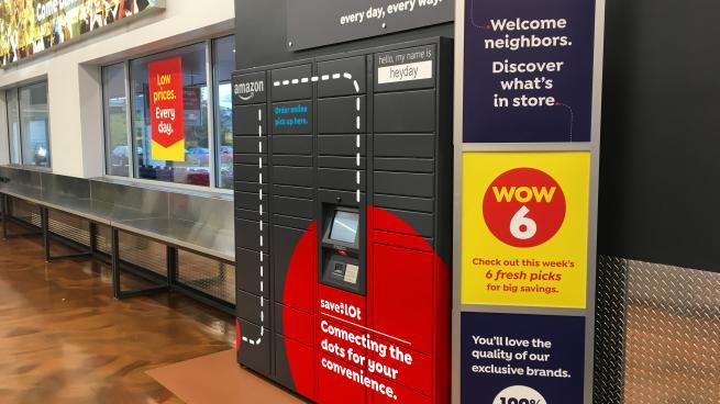 Amazon locker at Save A Lot