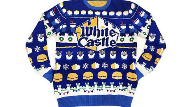 ugly white castle holiday sweater