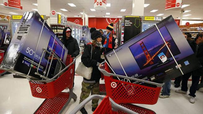 Target shoppers on black Friday