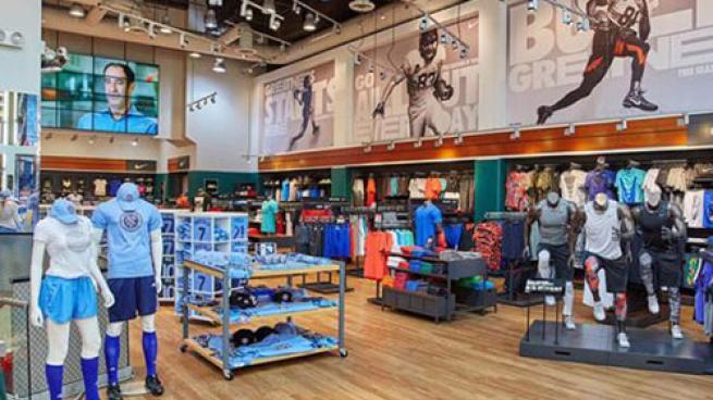 Modell's store interior