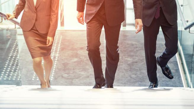 executives walking