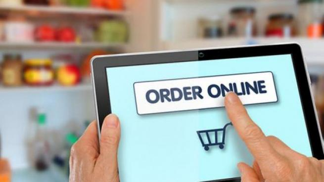 tablet with order online screen