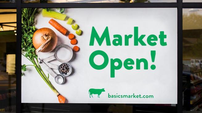 Basics Market sign
