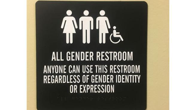 gender-neutral restroom sign