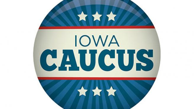 Iowa Democratic caucus button