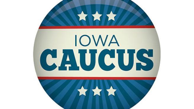Iowa Democratic caucus button