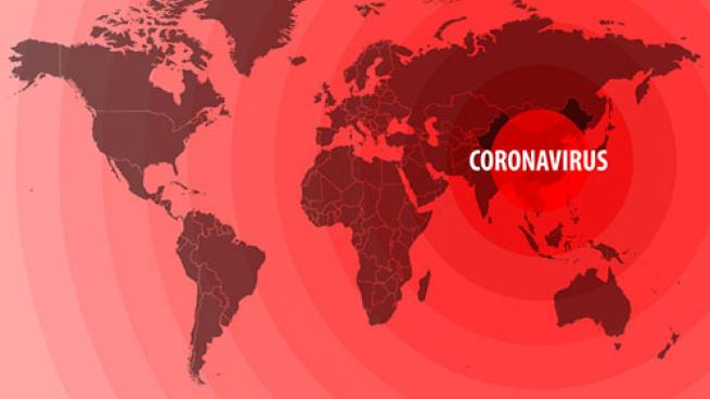 coronavirus on map