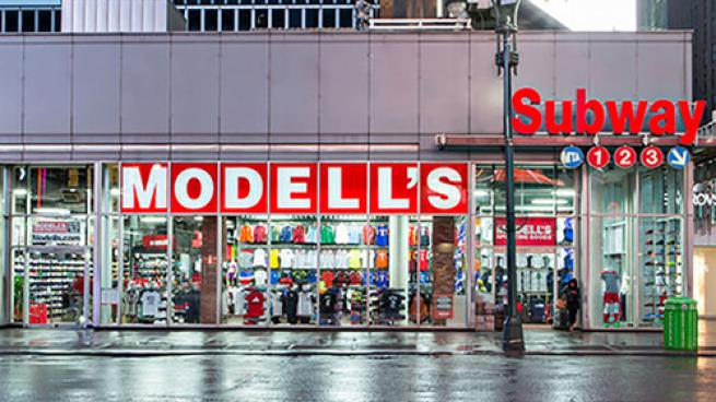 Modell's store exterior