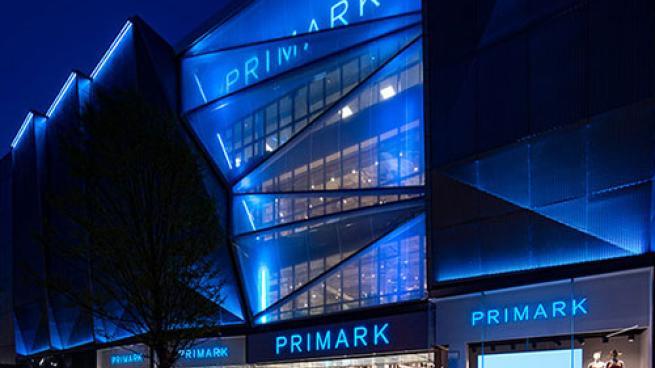 Primark exterior at night