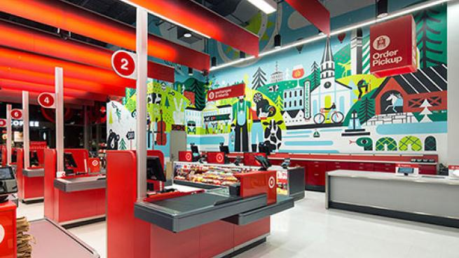 small format Target in Burlington, Vt.