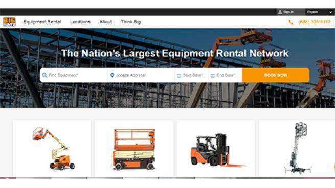 BigRentz website