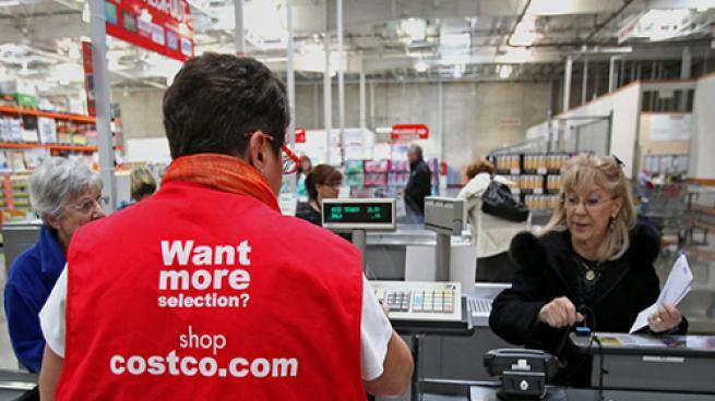 costco customer at checkout