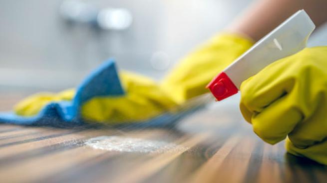 sanitizing counter-top