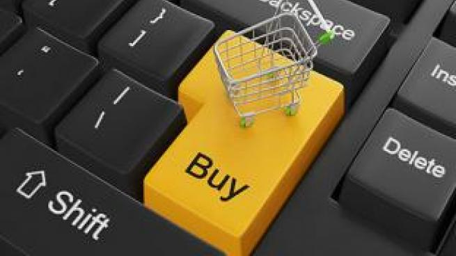 Shopping cart on buy button