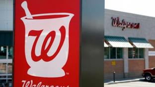 Exterior sign of a Walgreens store