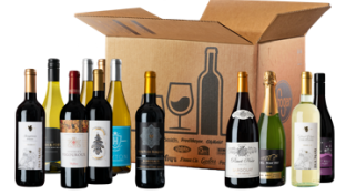 Box of wine bottles