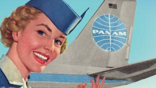 Pan Am cartoon advertisement image