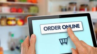 order online button with cart