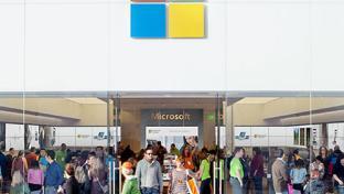 A Microsoft retail store