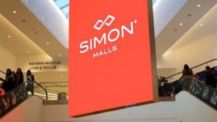Simon malls sign