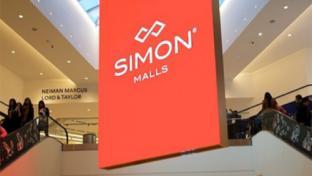 simon malls sign
