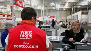 costco customer at checkout