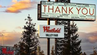 westfield's Thank you sign
