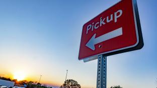 Walmart pickup sign