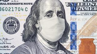 dollar bill with mask