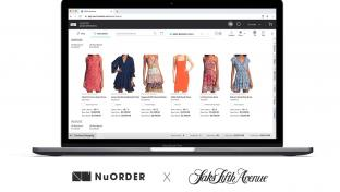Saks NuOrder merchandising screen