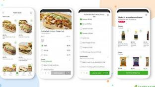 Instacart Publix Made to Order app screens