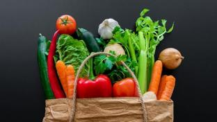 Grocery bag of veggies
