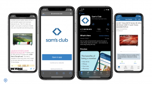 Sam's club app screens