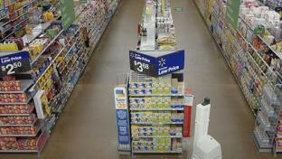 Walmart shelf-scanning robot