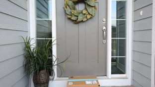 box delivered on front doorstep
