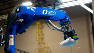 Pitney Bowes robotic arm
