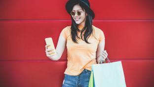 Female mobile shopper
