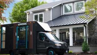 Lovesac mobile delivery van